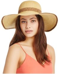 Kathy Jeanne - Packable Two-tone Floppy Hat - Lyst