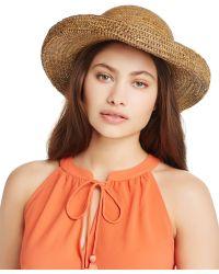 Kathy Jeanne - Crochet Raffia Kettle Sun Hat - Lyst