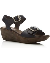 Munro - 'marci' Quarter Strap Wedge Sandal (women) - Wide Width Available - Lyst