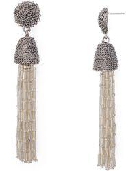 Aqua - Shaky Drop Earrings - Lyst