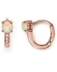Dana Rebecca - 14k Rose Gold Charlie Caroline Huggie Hoop Earrings With Opals And Diamonds - Lyst