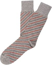 Etiquette - Step It Up Stripe Socks - Lyst