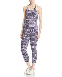 Jack BB Dakota - Brockton Indigo Diamond Printed Jumpsuit - Lyst