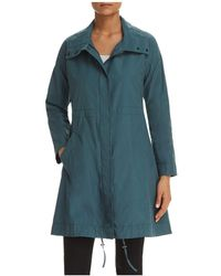 Eileen Fisher | Stand Collar Long Jacket | Lyst