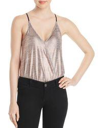 Guess - Breana Metallic Bodysuit - Lyst