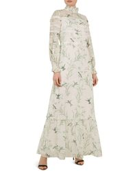124aa3f66 Ted Baker - Hhariet Fortune Lace-trimmed Maxi Dress - Lyst