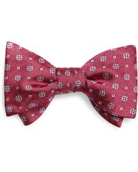 Brooks Brothers - Flower Grid Bow Tie - Lyst
