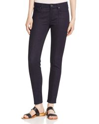 Elie Tahari | Azella Pintucked Skinny Ankle Jeans In Dark Night | Lyst
