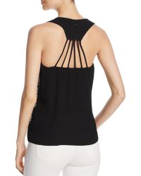 Oober Swank - Embroidered Racerback Tank - Compare At $68 - Lyst