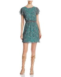 Finity - Printed Flutter Sleeve Dress - Lyst