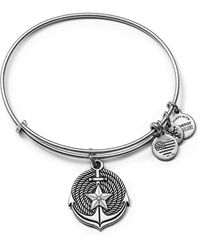 ALEX AND ANI - Anchor Expandable Wire Bangle - Lyst