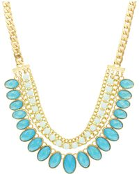 Sparkling Sage - Stone Lined Statement Necklace - Compare At $117 - Lyst
