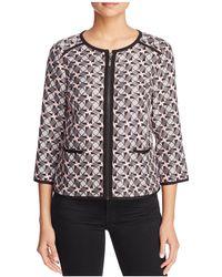 Finity - Jacquard Front Zip Jacket - Lyst