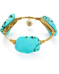 Bourbon and Boweties - Howlite Bangle - Lyst