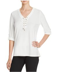 Chaus - Lace Neck Top - Compare At $59 - Lyst