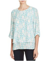 Chaus - Roll Sleeve Layered Top - Compare At $69 - Lyst