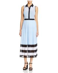 MICHAEL Michael Kors | Billerly Pleated Shirt Dress | Lyst