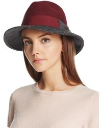 Bettina - Two Tone Wool Fedora - Lyst