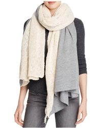 Donni Charm - Combo Flat & Chunky Knit Scarf - Lyst