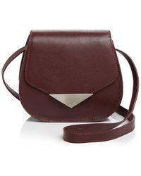 Facine - Mini Lock Color Block Saddle Bag - Lyst