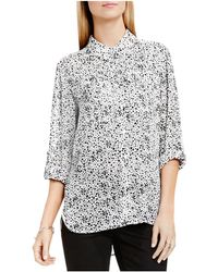 Two By Vince Camuto - Two By Vince Camtuo Dot Print Button Down Shirt - Lyst