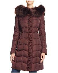 T Tahari - Addison Faux Fur-trim Puffer Coat - Lyst