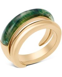Michael Kors - Two Tone Spiral Ring - Lyst