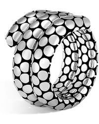 John Hardy - Sterling Silver Dot Double Coil Ring - Lyst