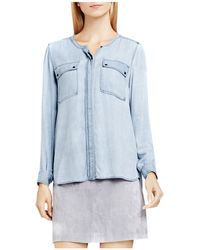 Two By Vince Camuto - Two By Vince Camtuo Chambray Utility Shirt - Lyst