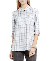 Two By Vince Camuto - Two By Vince Camtuo Plaid Shirt - Lyst