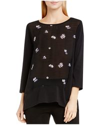 Two By Vince Camuto - Two By Vince Camtuo Posy Petals Floral Print Top - Lyst
