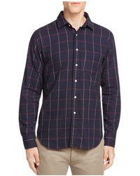 Haspel - Constance Flannel Regular Fit Button-down Shirt - Lyst