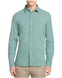 Haspel - Constance Linen Blend Regular Fit Button-down Shirt - Lyst