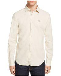 Haspel - Constance Linen Blend Regular Fit Button-down Shirt - Lyst