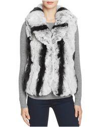 Surell - Rabbit Fur Vest With Collar - Lyst