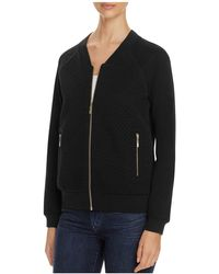 Finity - Sparkle Quilted Knit Bomber Jacket - Lyst