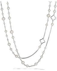 David Yurman - Pearl Chain Necklace - Lyst