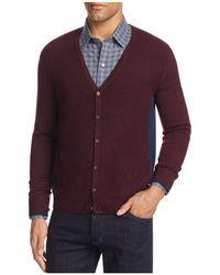 Zachary Prell - Merino Wool Color-block Cardigan Jumper - Lyst