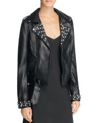 Linea Pelle - Studded Leather Moto Jacket - Lyst