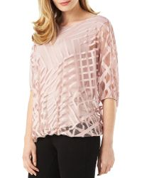 Phase Eight - Eve Geometric Overlay Top - Lyst