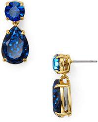 Kate Spade - Shine On Glitter Double Drop Earrings - Lyst