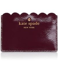Kate Spade - Lily Avenue Patent Card Case - Lyst
