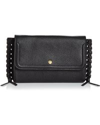 Annabel Ingall - Emma Oversize Whipstitch Leather Clutch - Lyst