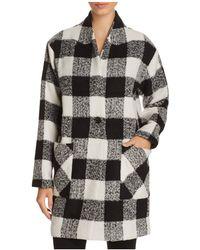 Sanctuary - Check Print Cocoon Coat - 100% Bloomingdale's Exclusive - Lyst