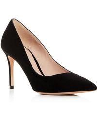 Giorgio Armani - Women's Decolette Leather Pointed Toe Pumps - Lyst