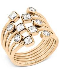 Michael Kors - Modern Brilliance Crystal Ring/goldtone - Lyst