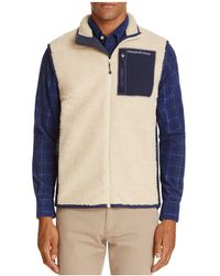 Vineyard Vines - Sherpa Fleece Zip Vest - Lyst