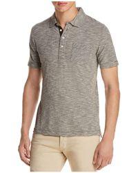 Billy Reid - Striped Slim Fit Polo Shirt - Lyst