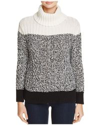 Two By Vince Camuto - Colour Block Turtleneck Jumper - Lyst