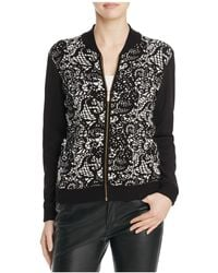 Avec | Mixed Media Bomber Jacket | Lyst